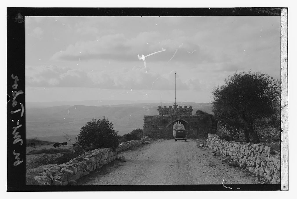 Mt. Tabor - جبل طابور : Coming down from the monastery, Matson collection