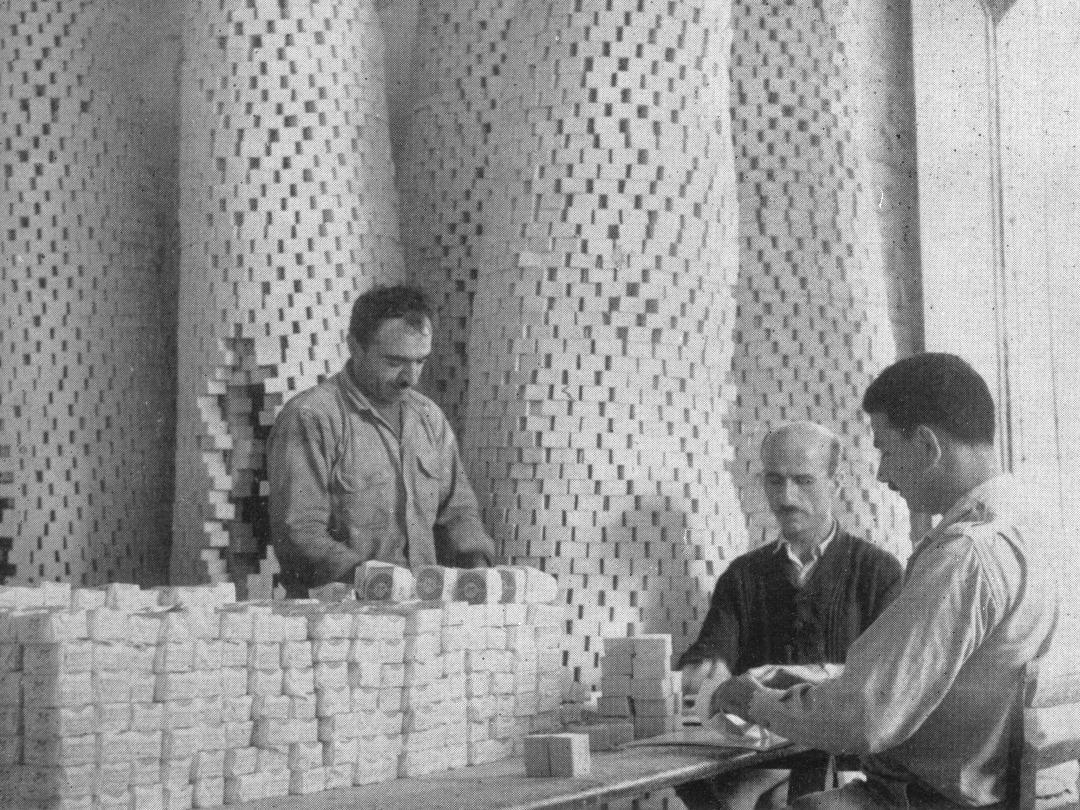 Nablus - نابلس : The famous old profession - Soap Factory