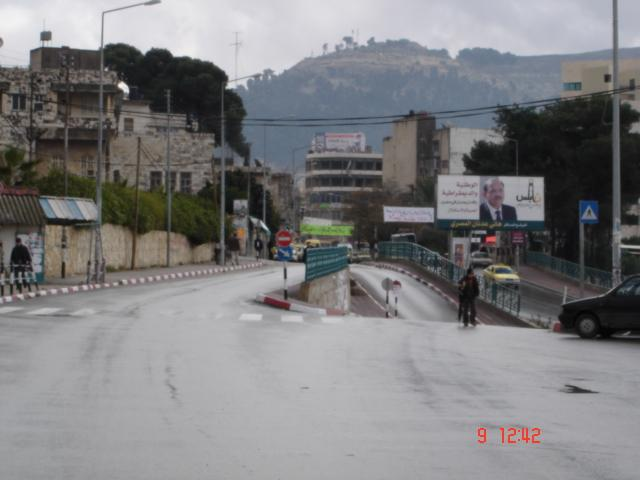 Nablus - نابلس : The road leading to Tulkarm and Jenin