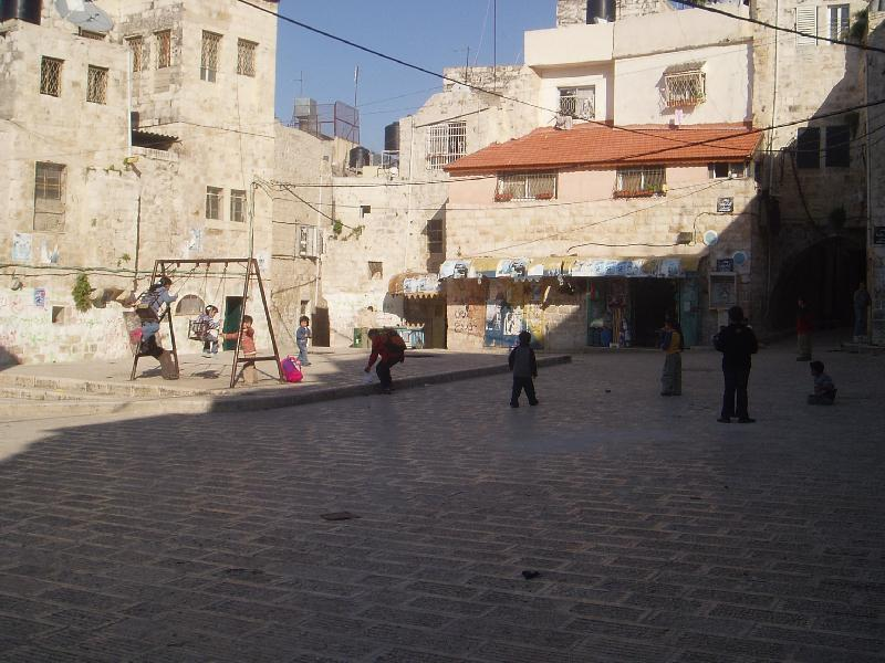 Nablus - نابلس : A school play ground in Casabah