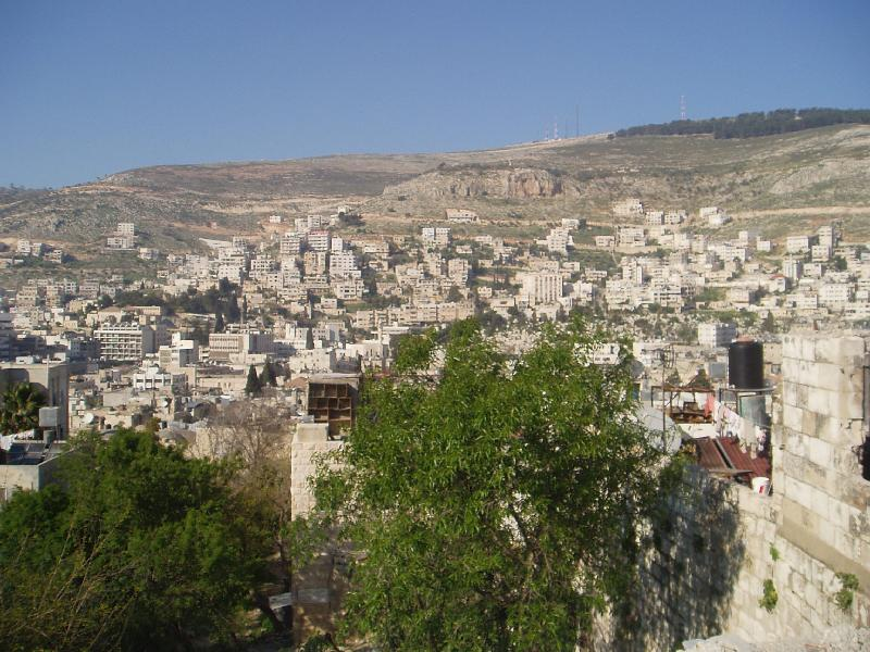 Nablus-Nablus: General view of the city from the Casabah area #1 ...