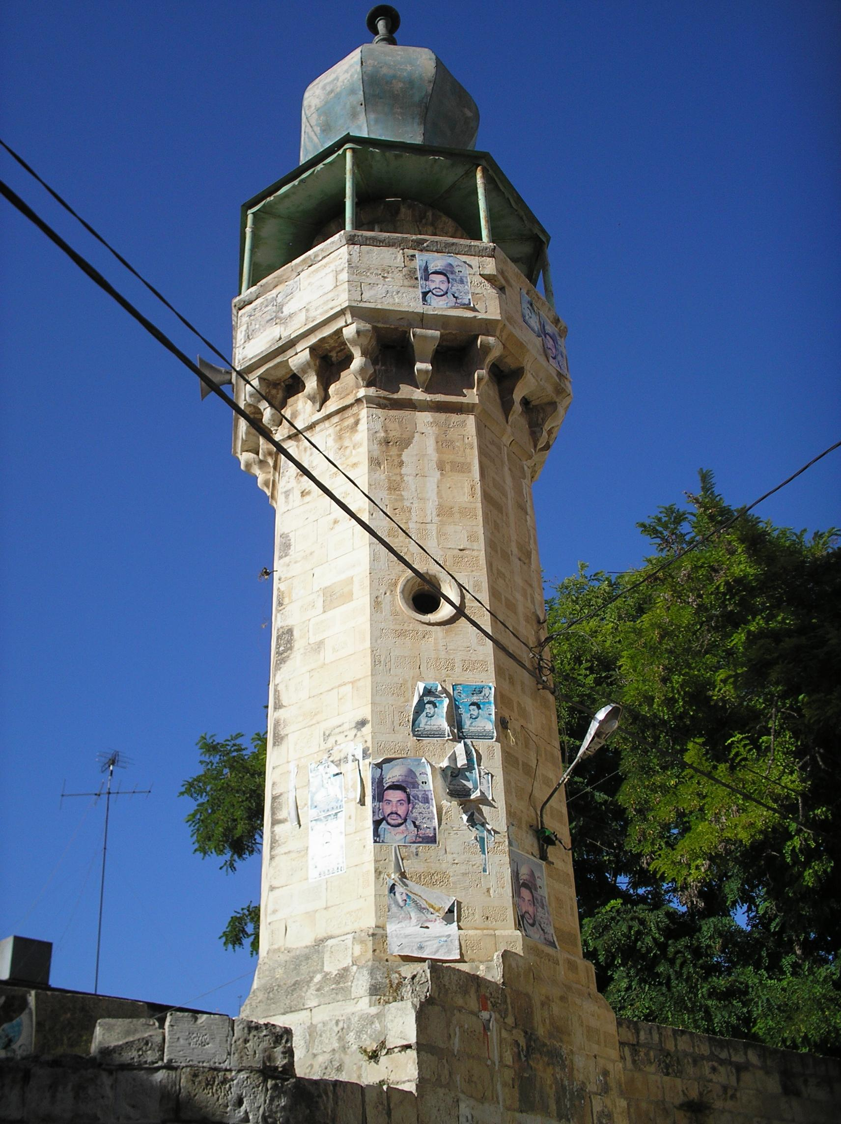 Nablus - نابلس : Casabah main mosque's minaret. Do you know the name? Please provide in the comments section below