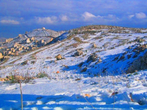 Nablus - نابلس : Snow in Nables