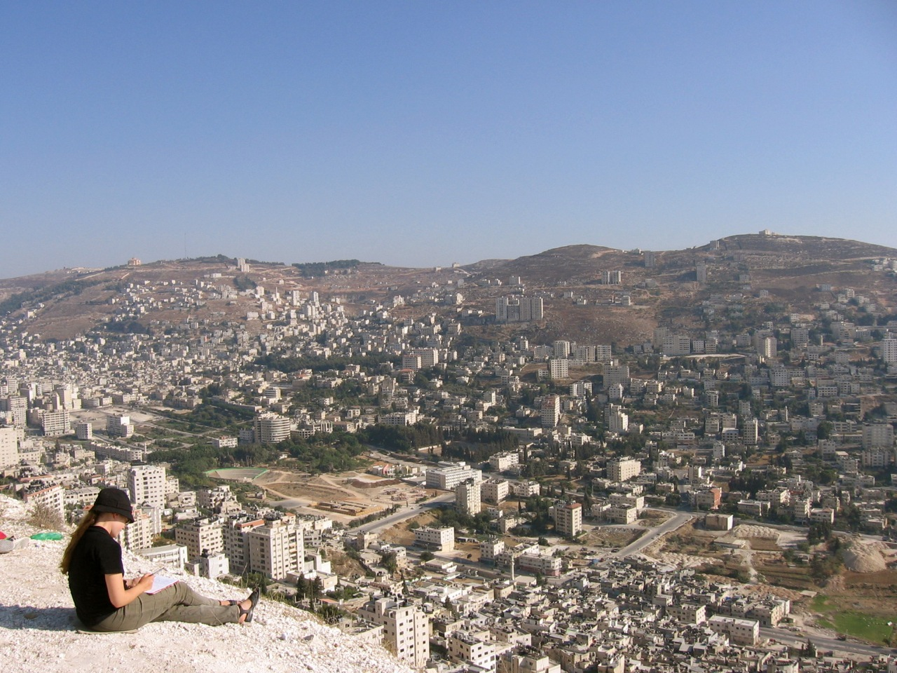 Nablus - نابلس : View from mountain, its Nablus