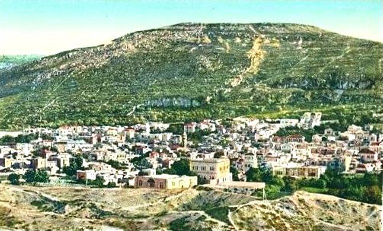 Nablus - نابلس : Nablus, late 19th c.