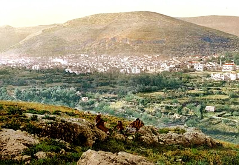 Nablus - نابلس : NABLUS - Late 19th, early 20th c. 2 ( and Mount Gerizim)