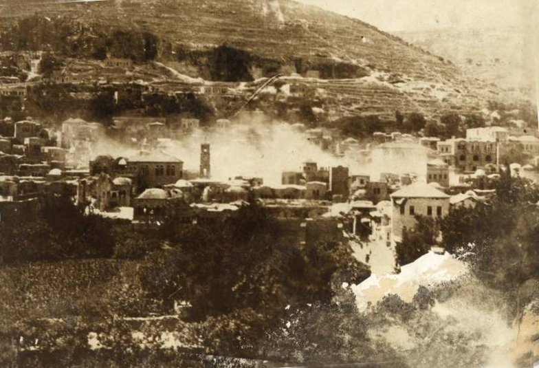 Nablus - نابلس : NABLUS - Late 19th, early 20th c. 10 (1927 earthquake press photo 3)