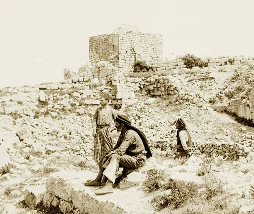 Nablus - نابلس : NABLUS - Late 19th, early 20th c. 26 - Summit of Mt. jerzim