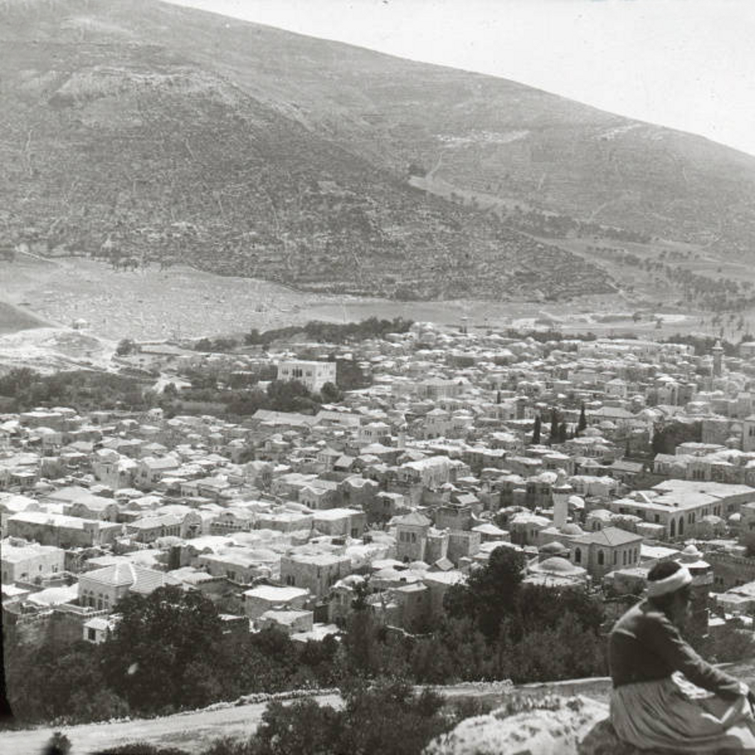 Nablus - نابلس : NABLUS - Late 19th, early 20th c. 34 - Nablus from Mt. Gerizim, 1900 - 1911