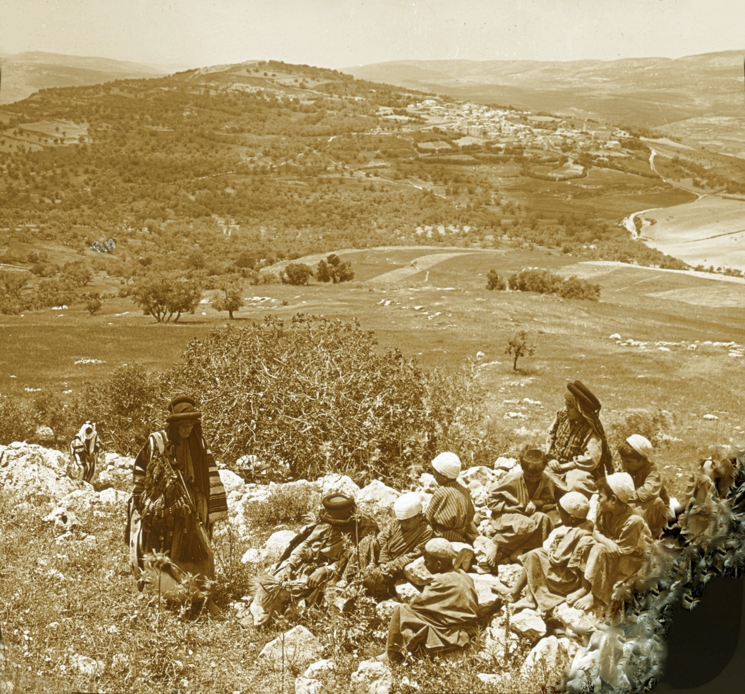 Nablus - نابلس : NABLUS - Late 19th, early 20th c. 39 - Sabastiya from the Southeast