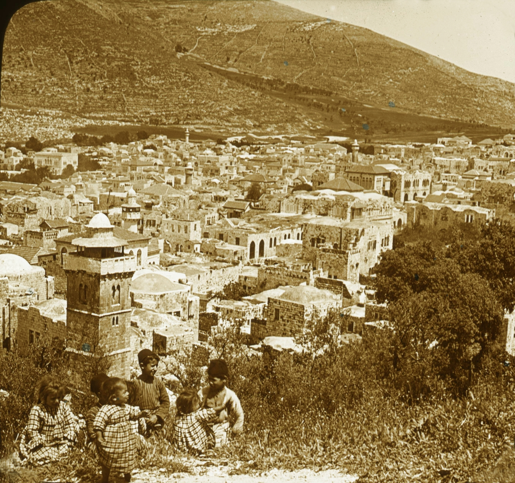 Nablus - نابلس : NABLUS - Late 19th, early 20th c. 40 - Nablus and Mount Ebal, 1880s