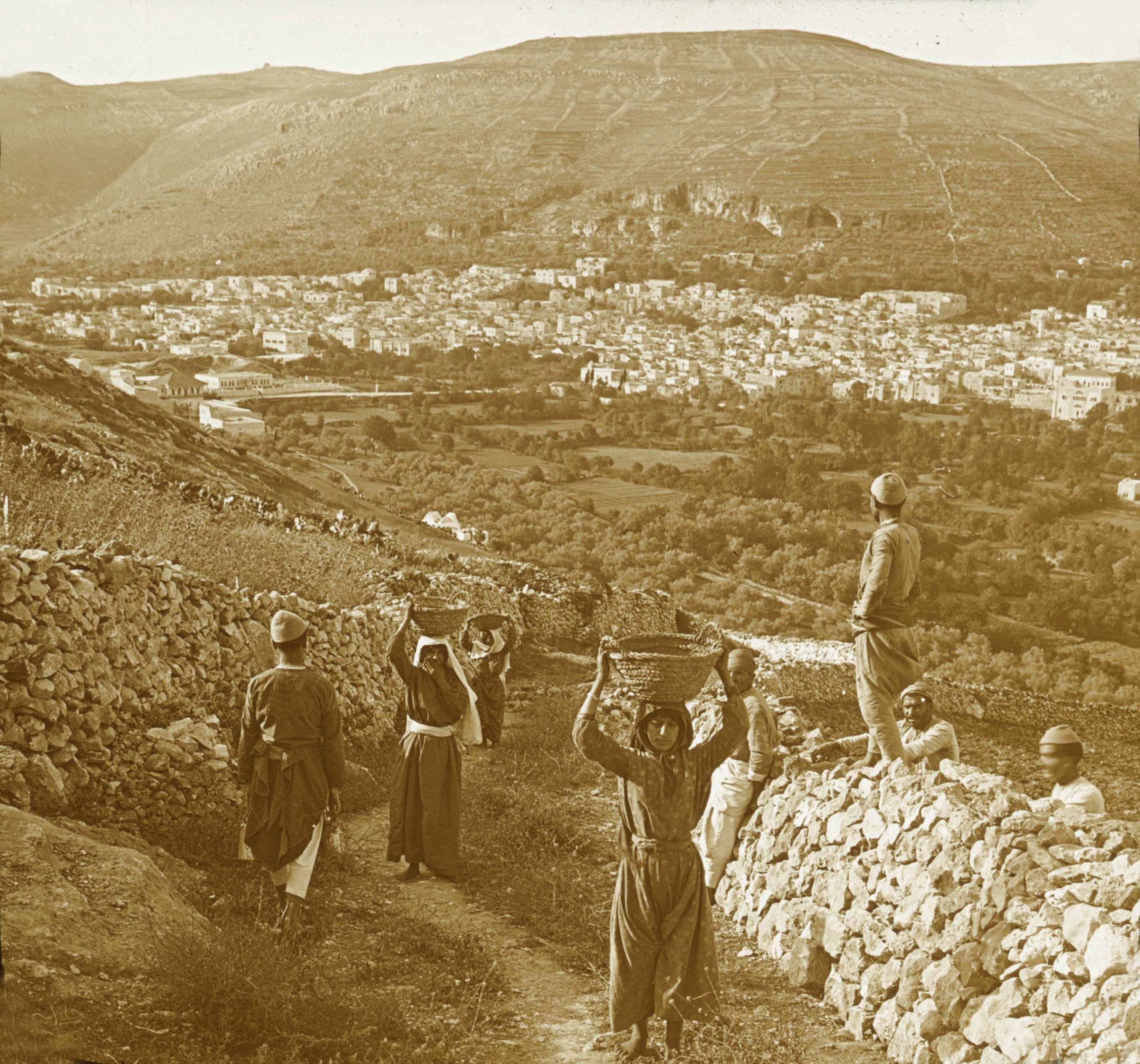 Nablus - نابلس : NABLUS - Late 19th, early 20th c. 41 - Nablus and Mount Gerizim, 1880s