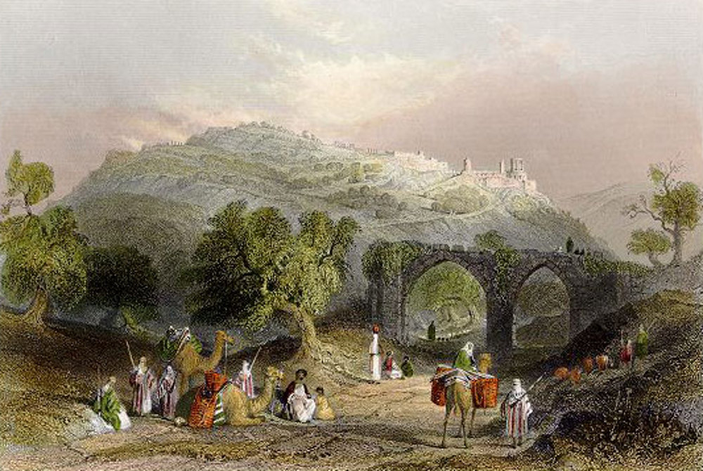 Nablus-Nablus: NABLUS - Engravings,etc 9 - Hill of Samaria (Sabastiya ...