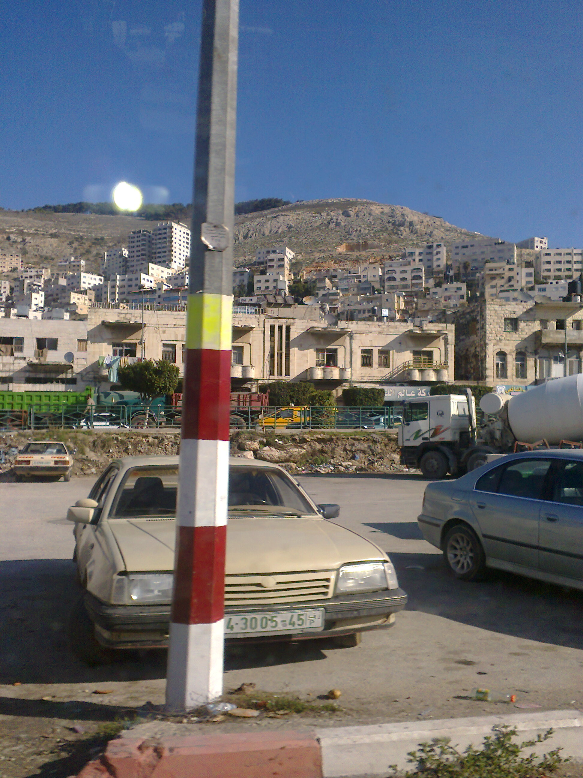 Nablus - نابلس : Nablus the north mountain