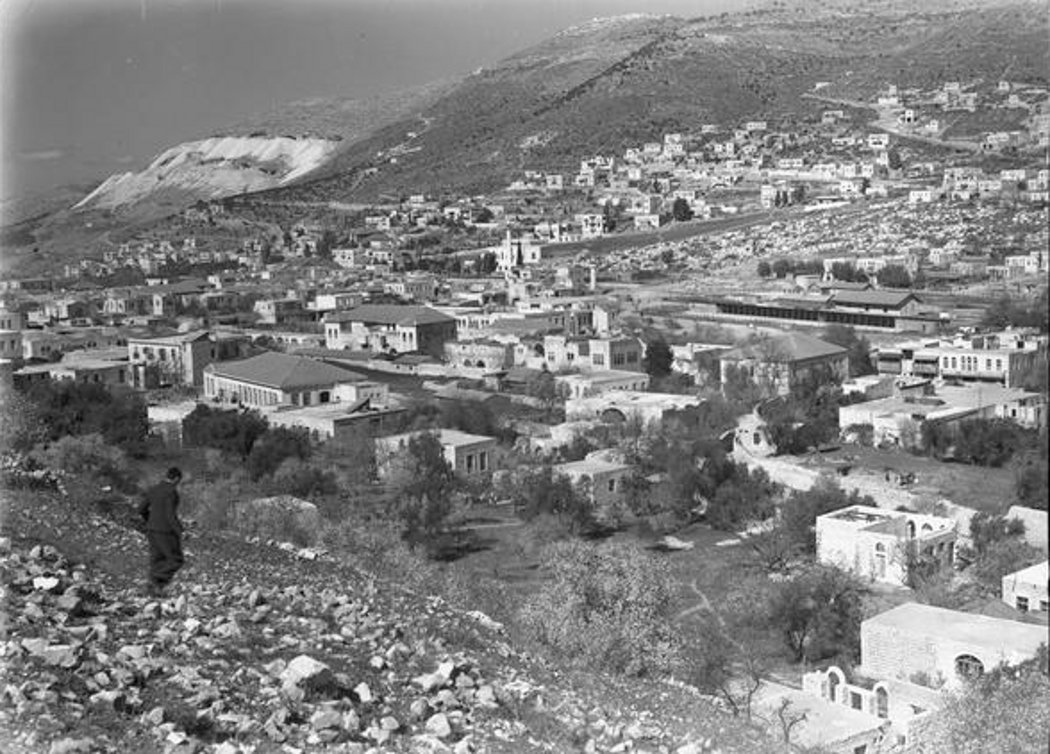 Nablus - نابلس : NABLUS - 1939-45 (1) Looking towards Mt. Gerzim (National Library of Australia)