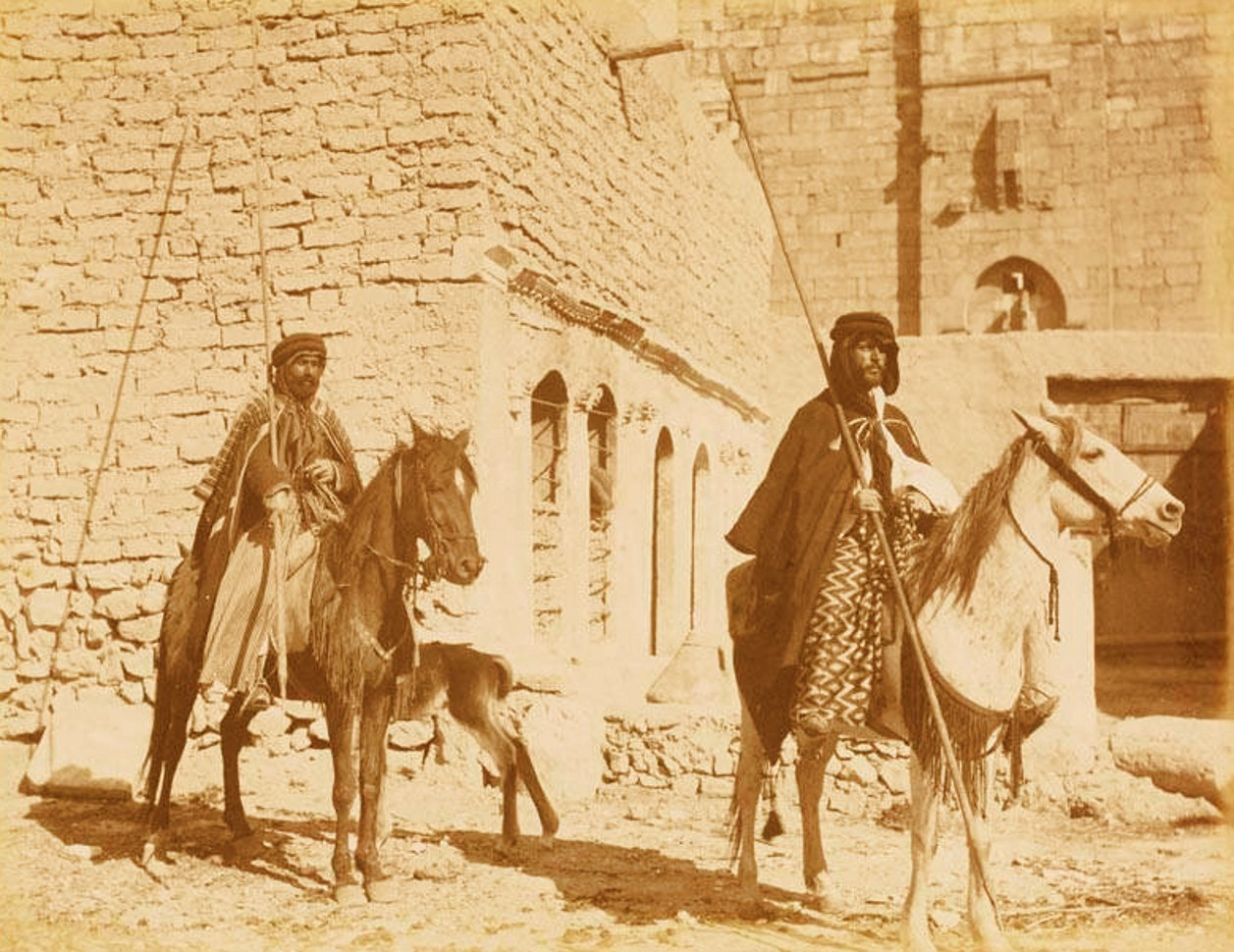Nablus - نابلس : NABLUS - Late 19th, early 20th c. 75 - Arabs of northern Palestine on horseback (Possibly around the Nablus area)