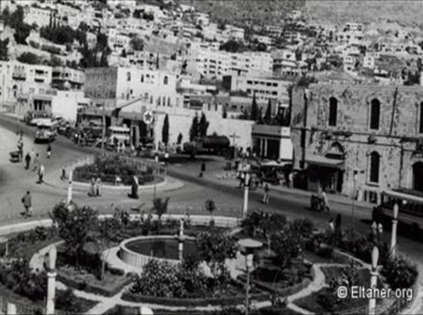 Nablus - نابلس : NABLUS - A partial view of the city-centre in the 1950s (Eltaher.org)