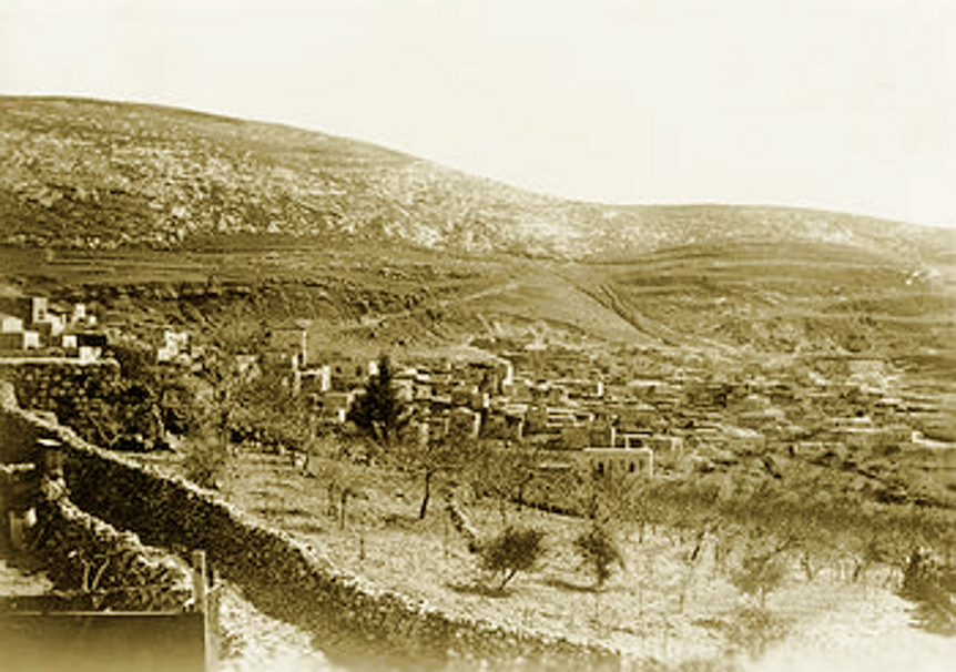 Nablus - نابلس : NABLUS - View over the Palestinian village of Silat al Dahar, situated in a mountain valley near the city of Nablus. British Mandate of Palestine