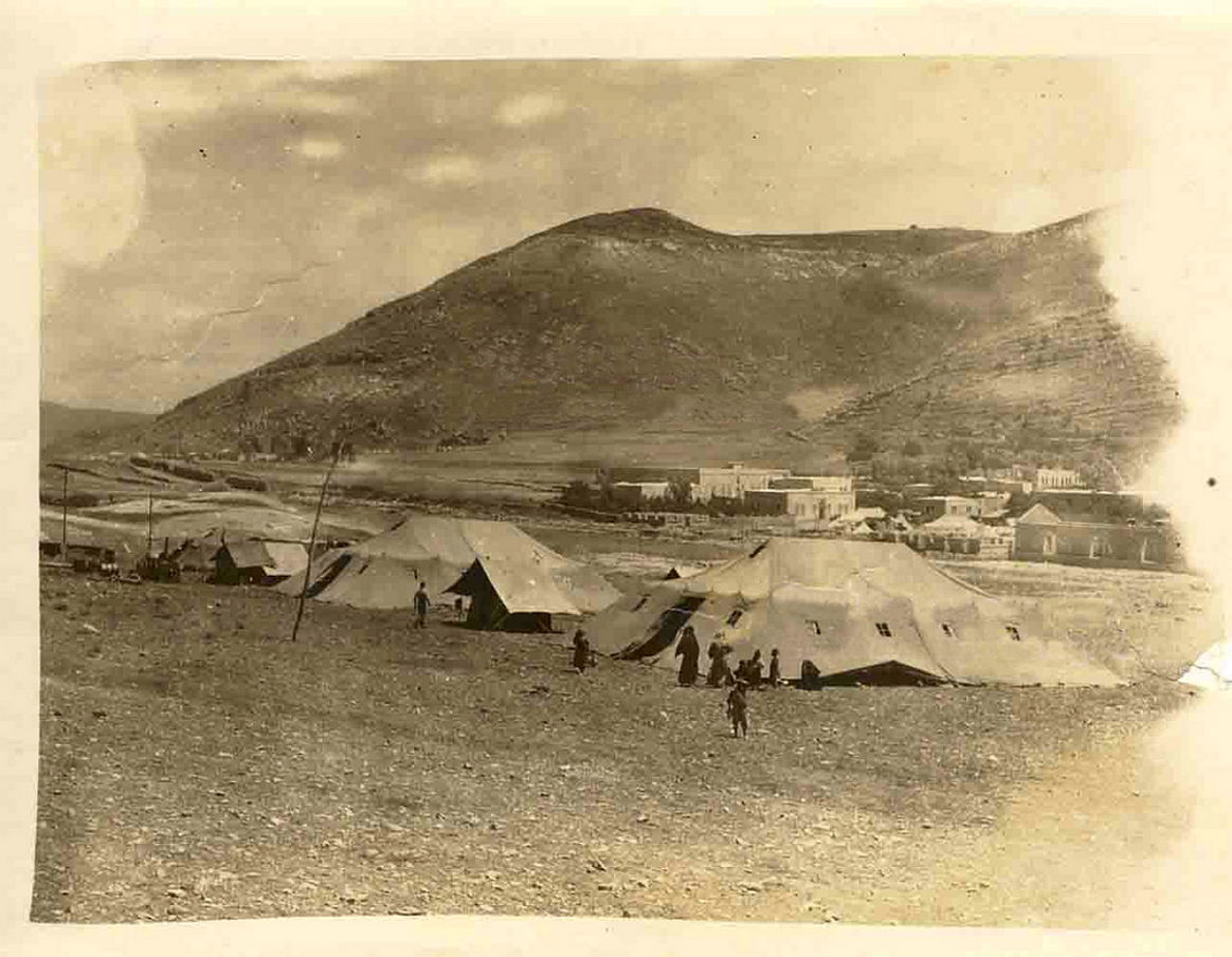 Nablus - نابلس : NABLUS - Late 19th, early 20th c. 102 - Camp of German soldiers near the old railway station, 1918 (Photo by a WWI German soldier)