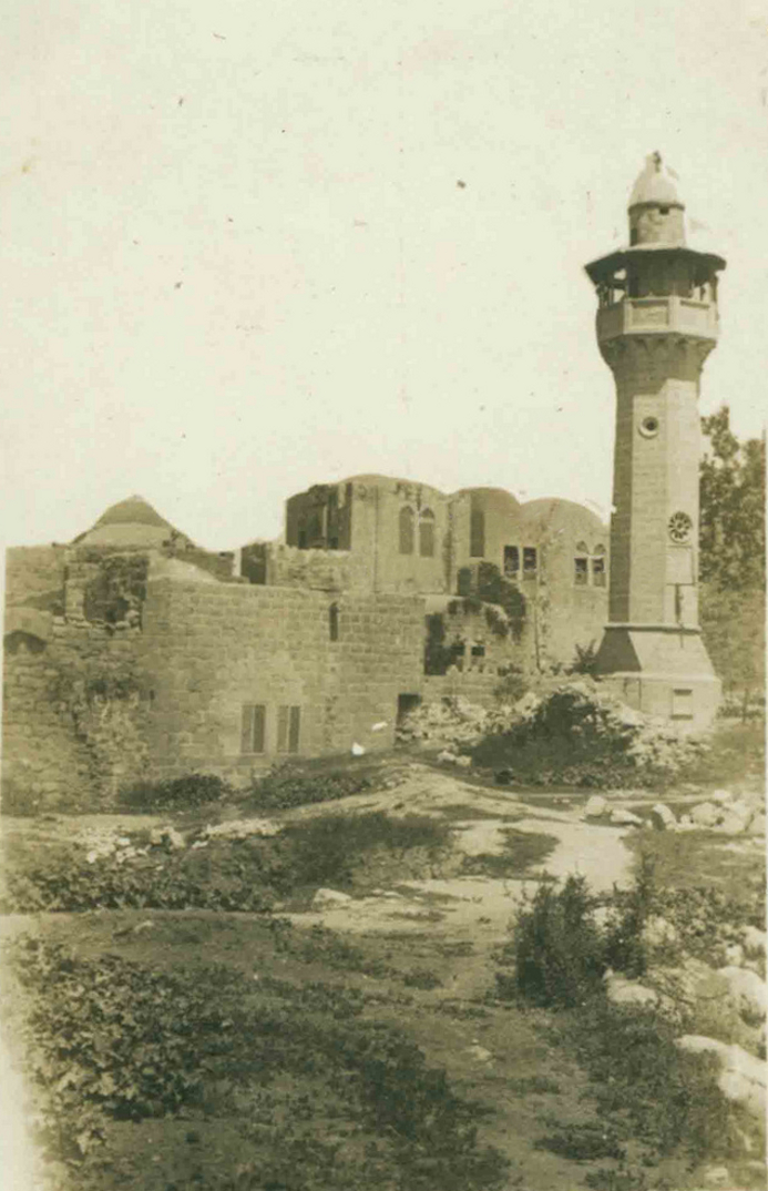 Nablus - نابلس : NABLUS - Late 19th, early 20th c. 118 - One of the mosques of Nablus, circa 1916-18