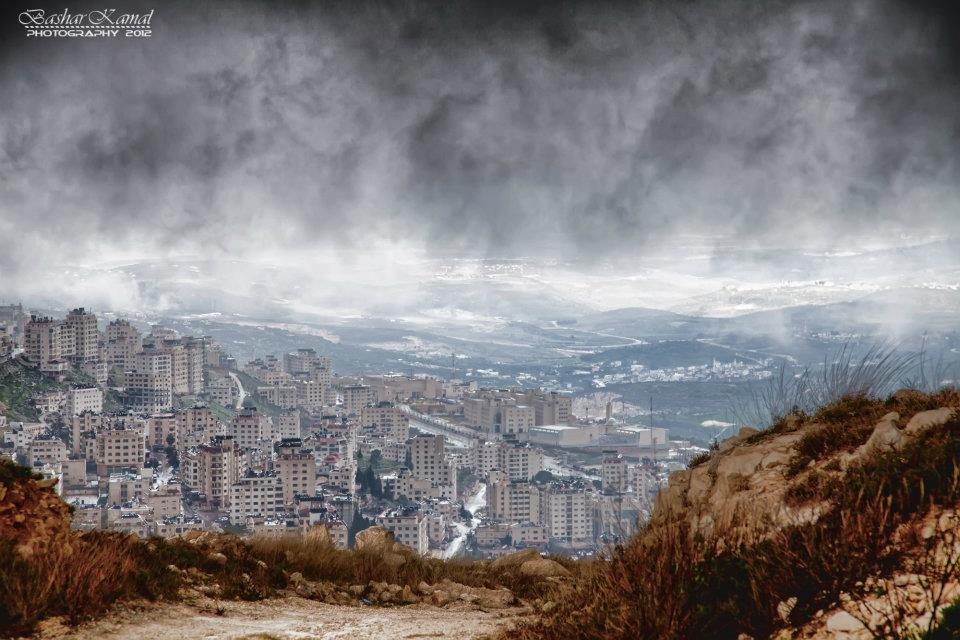 Nablus - نابلس : Nablus Buildings from the Mountain- By Bashar K.
