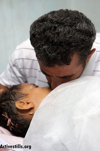 Ni'lin - نعلين : The father of 11-year-old Ahmed Mussa, who was fatally shot by Israeli