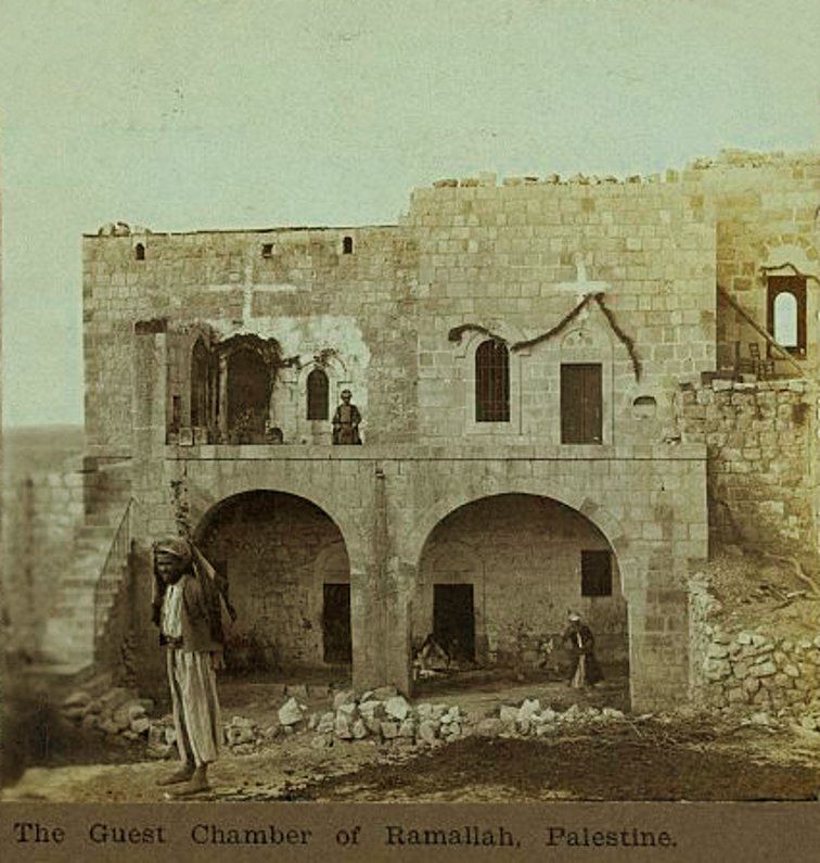 Ramallah - رام الله : The guest chamber of Ramallah, Palestine - 1905