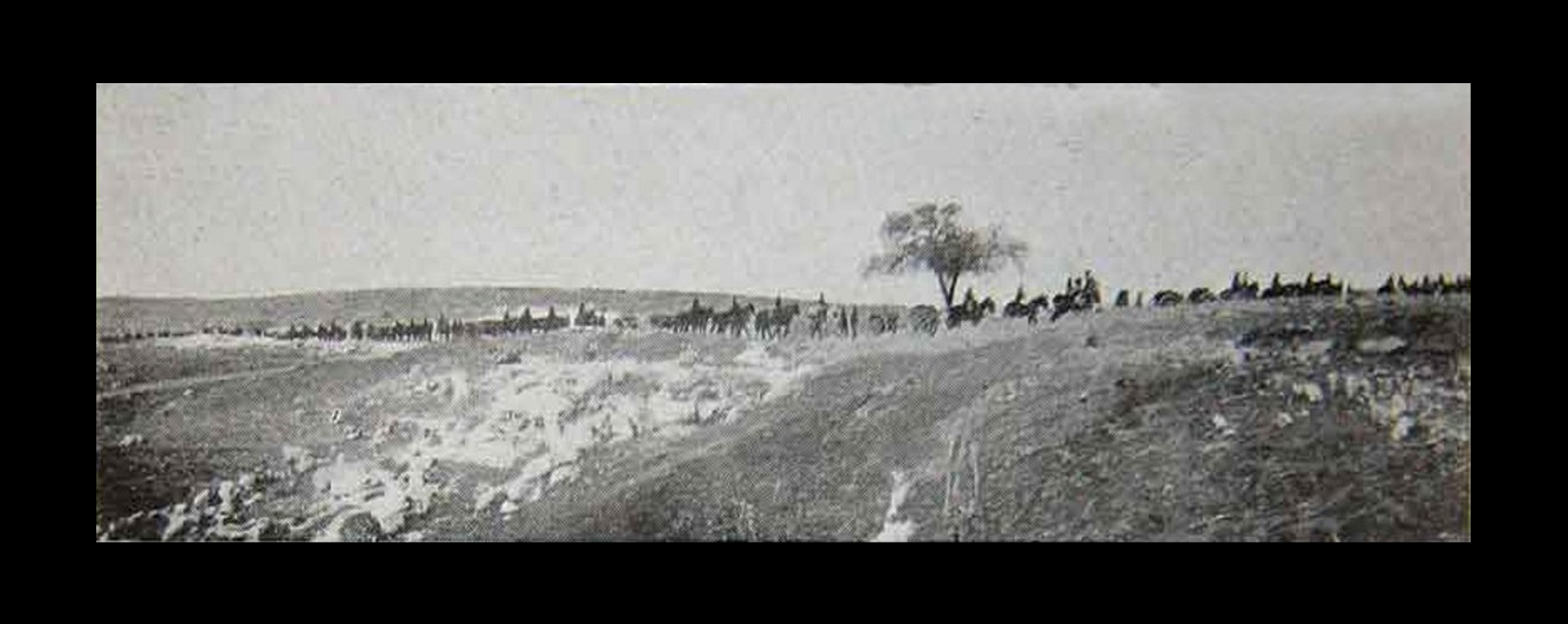 Ramallah - رام الله : Artillery of English West Country troops near Ramallah converging on Jerusalem from Gaza and Jaffa, 1918 (The start of the accursed Mandate)