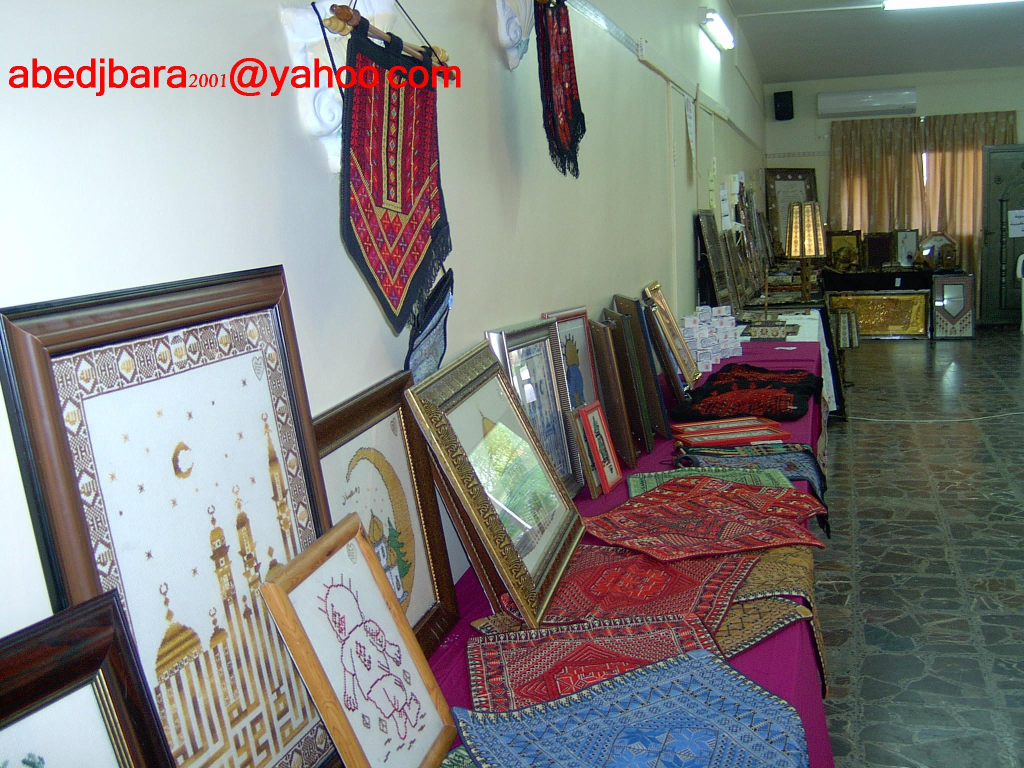 Tulkarm - طولكرم : اعمال تطريز يدوي-embroideries of Tulkarm