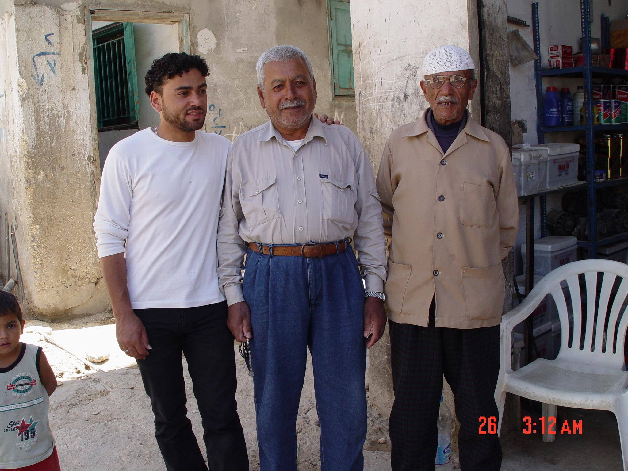 al-Burj al-Shamali R.C.&nbsp;-&nbsp;&#1605;&#1582;&#1610;&#1617;&#1605; &#1576;&#1585;&#1580; &#1575;&#1604;&#1588;&#1605;&#1575;&#1604;&#1610;&nbsp;: Three generations from the village of al-Zuq al-Tahtani, Safad - Palestine. They pronounce it locally by <i>es-Zoog</i> - 2003
