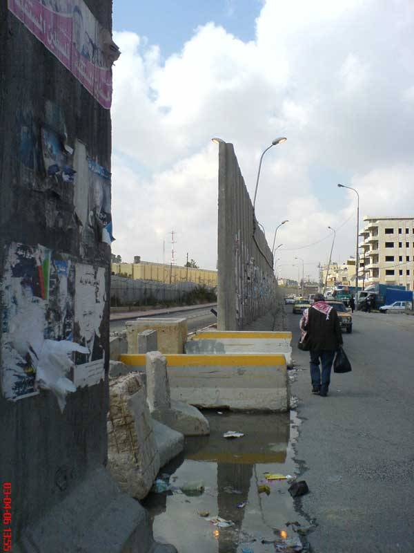 al-Ram - الرامّ : The Apartheid Wall blocks lots of gaps in Ar-Ram.