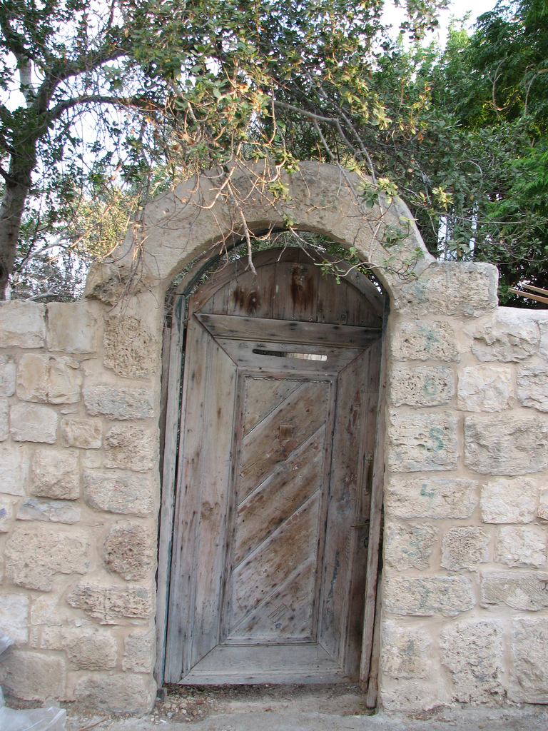 'Ayn Hawd - عين حوض : The entrance to another looted house, now this community is a place where ONLY  Jews can live.