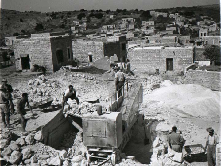 'Ayn Hawd - عين حوض : General View Of 'Ayn Hawd As It's Being Renovated By Jewish Artists In1954