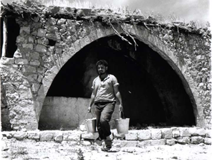 'Ayn Hawd - عين حوض : A Picture Of 'Ayn Hawd At It's Being Renovated ByJewish Artists So It Becomes Their Home( #2), 1954