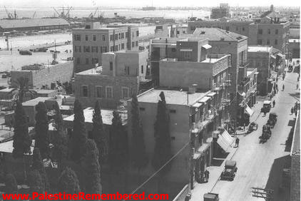 Haifa - حيفا : A Close Up View Of Downtown Haifa, 1934