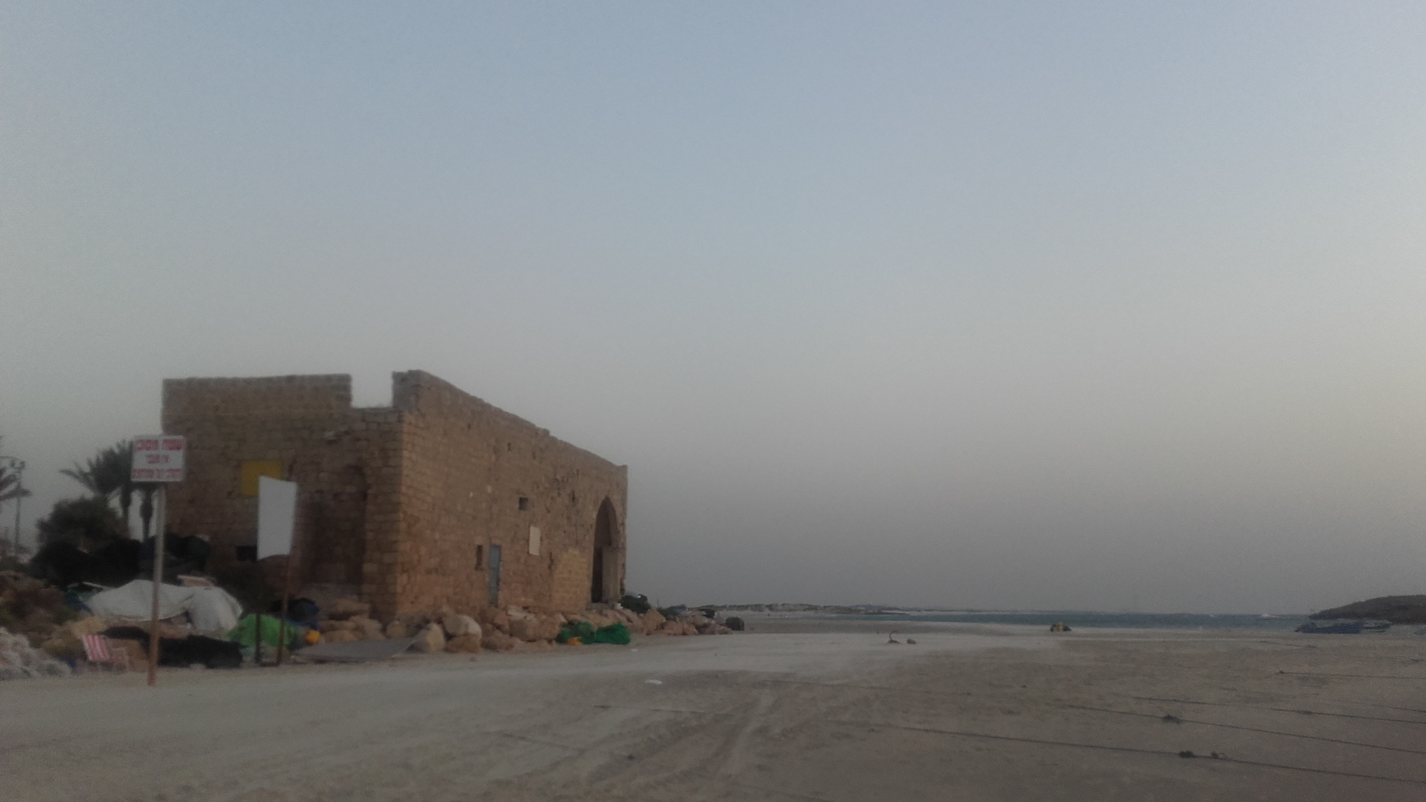 al-Tantura - الطنطورة : The remaining house on the beach, built by Mahmoud Yahya in the 1800's