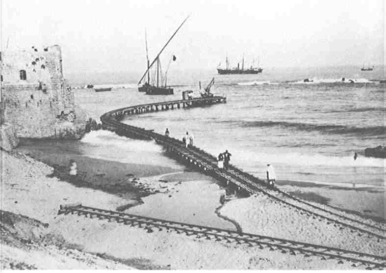 Jaffa - يافا : Jaffa's railroad going to the harbor (early 1920s)