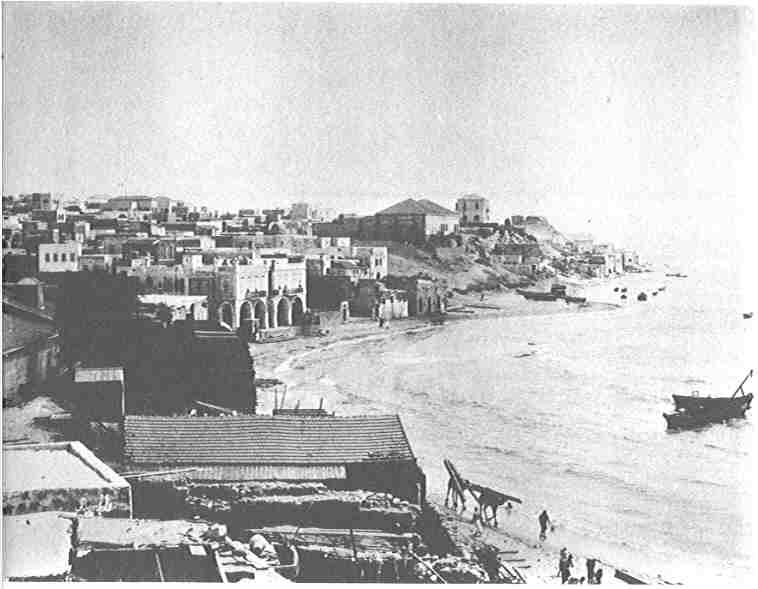 Jaffa - يافا : Looking South On Jaffa Harbor In The Early 1920s