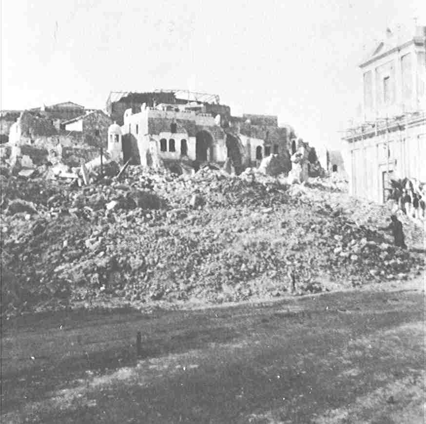 Jaffa - يافا : The aftermath of demolitioning Jaffa's old city during the first intifada by the British occupation in 1936
