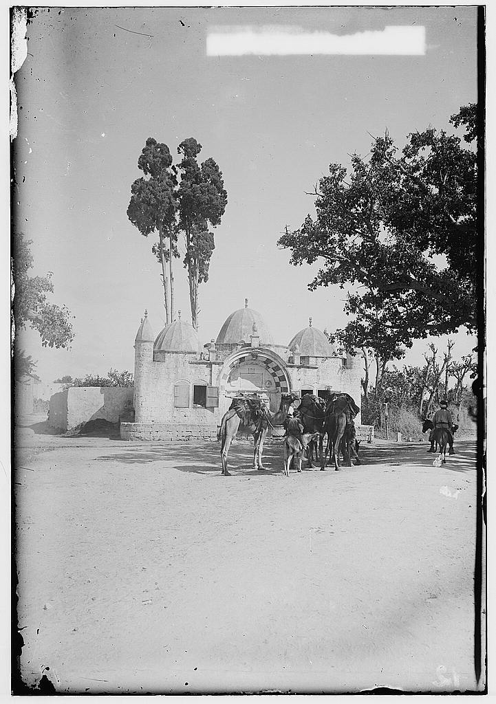 Jaffa - يافا : Water Well/Sabil Abu al-Nbut #1, before 1920. Matson Collection