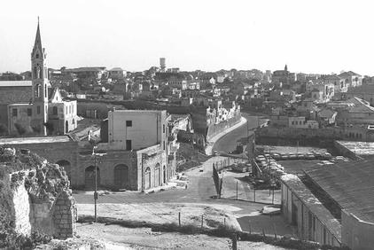 Jaffa - يافا : The Old City Of Jaffa, picture taken from either Irsheed or Manshiyya neighborhoods. The water tank can be seen in the middle background
