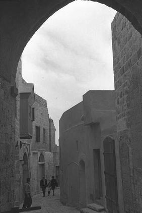Jaffa - يافا : A Narrow Ally In The Old City, 1967