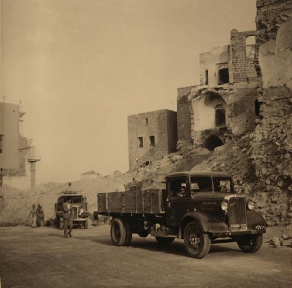 Jaffa - يافا : JAFFA - Rubble of Arab houses in old Jaffa destroyed by th2 British, November 7th, 1936