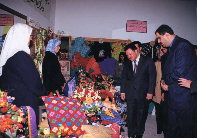 Kafr 'Ana - كفْر عانة : H.M. King Abdullah II opening the 5th exhibition of Kafr Ana'a unity 2001 (pic#03) .