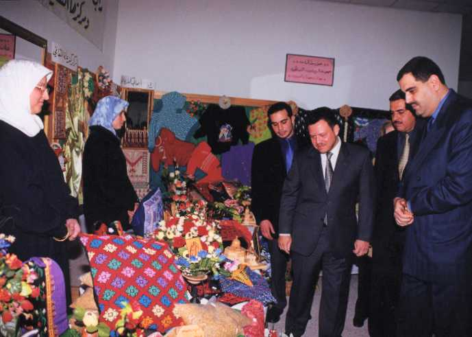 Kafr 'Ana - كفْر عانة : H.M. King Abdullah II opening the 5th exhibition of Kafr Ana'a unity 2001 (pic#04) .