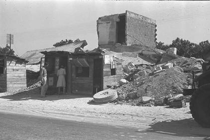 Yazur - يازور : A Yazur Shop Being Used By An Israeli Soon After Occupation, 1948