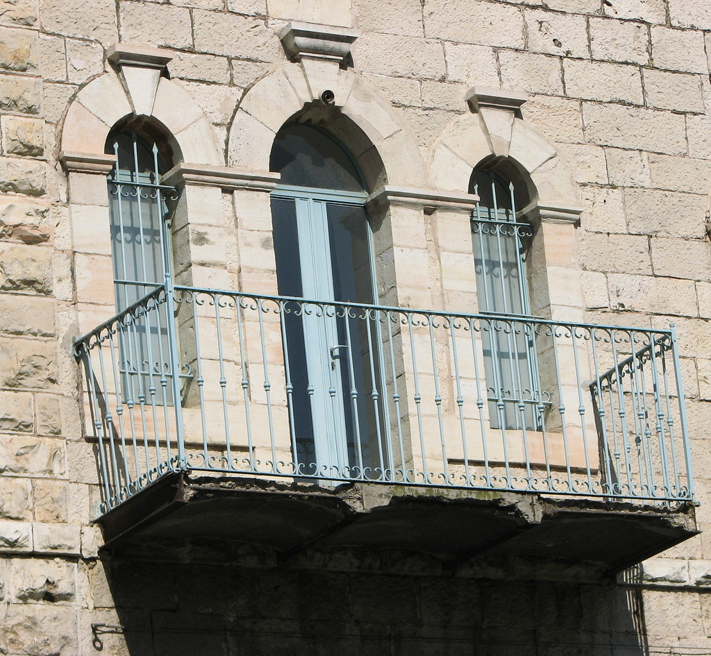 'Ayn Karim - عين كارم : A Balcony of looted Palestinian house in Ein Karim!!