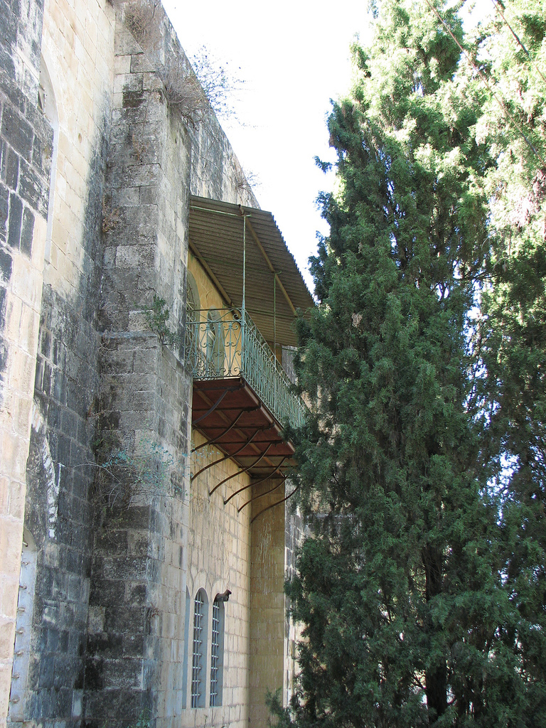 'Ayn Karim - عين كارم : A Balcony of looted Palestinian house in Ein Karim #2!!