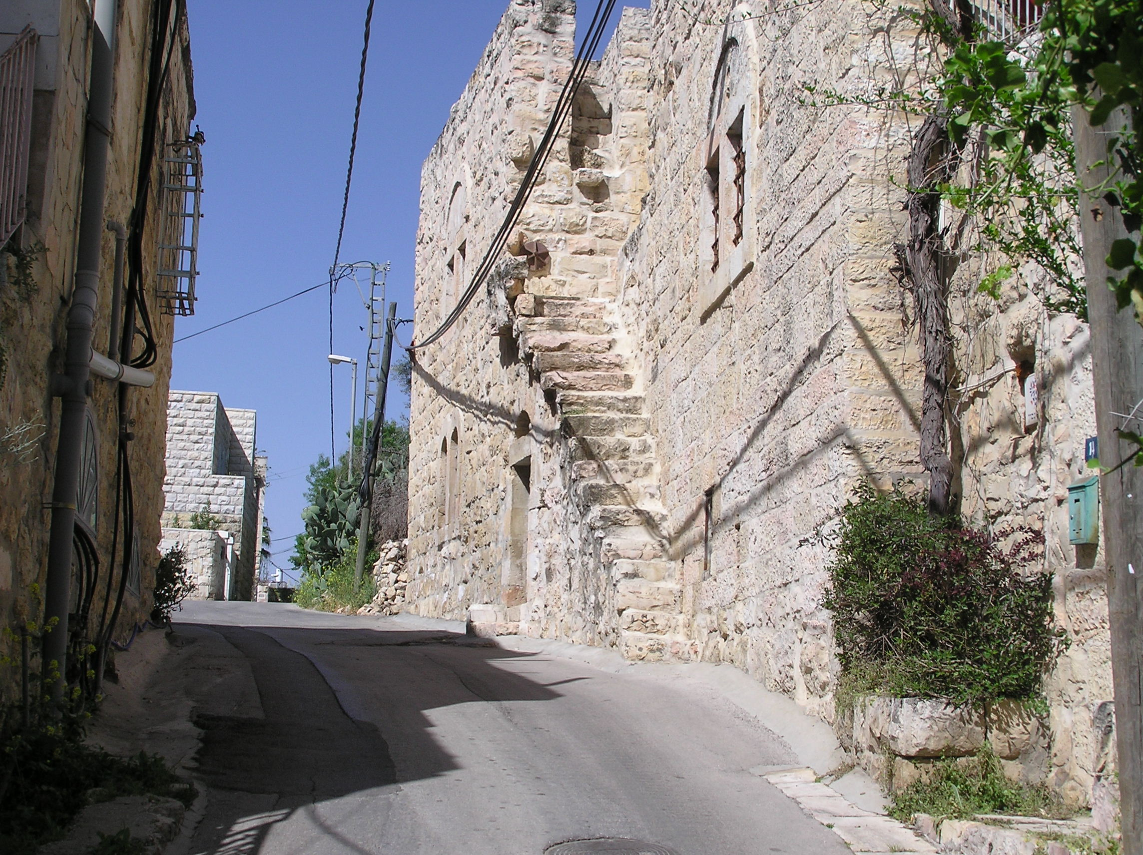 'Ayn Karim - عين كارم : One of Ain Karem's Alley Street with Its Magnificient Stairways & Original Houses.