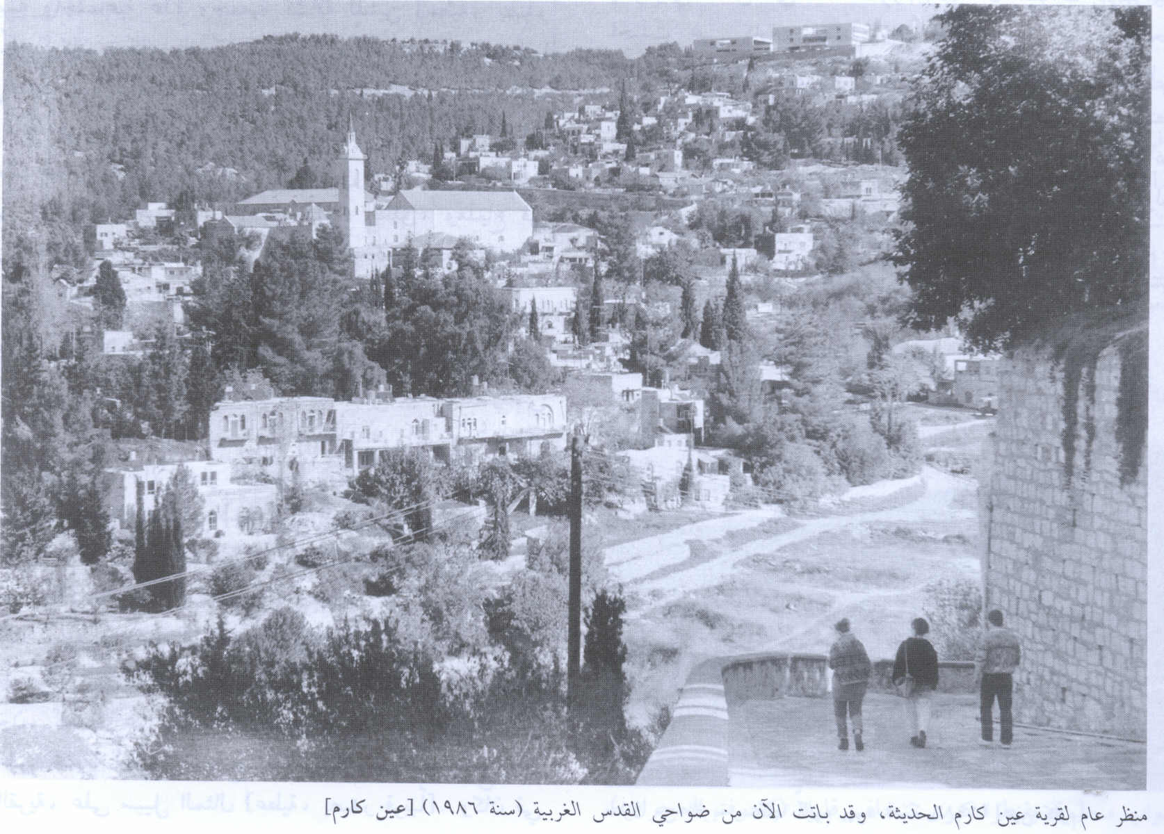 'Ayn Karim - عين كارم : A general view of the village, 1986